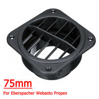 Auto Car Heater Ducting 75mm Warm Air Vent Outlet For Eberspacher Webasto Propex