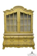 DREXEL HERITAGE Rapport Mimosa Yellow 66? Bombay China / Display Cabinet 784-339