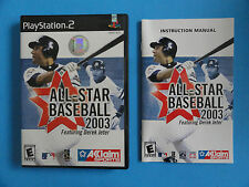 NO GAME- PS2 ALL-STAR BASEBALL 2003 - GAME CASE & MANUAL ONLY - NO GAME