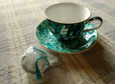 T2 Cup And Saucer With Mesh Ball - Wild About Green Rose