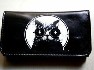 ELECTRO CAT HI QUALITY ROLLING TOBACCO POUCH CASE WALLET LENON BLACK GLASSES