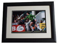 Ray Clemence SIGNED FRAMED Photo Autograph 16x12 LARGE display Liverpool & COA