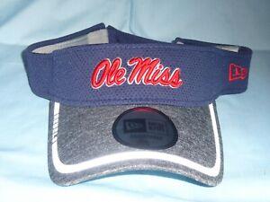 OLE MISS Mississippi REBELS Training style VISOR New Era  Fits All Sizes NWT $25