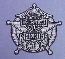 HARLEY DAVIDSON MOTOR CYCLES  SHERIFF  PATCH  VERY NICE!!!