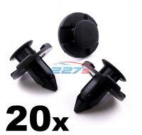 20x 8mm Bumper Clips- Plastic Trim Clips fits Nissan Micra Almera XTrail Juke...