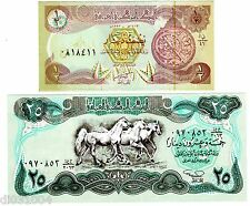 Lot SET SERIE IRAK IRAQ  BILLETS 1/2 - 25 DINARS UNC NEUF