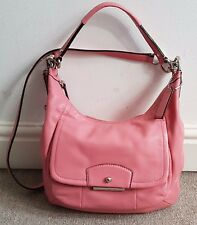Gorgeous COACH Leather Coral Fade Pink hand bag 100% Authentic.