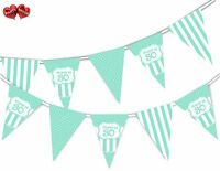 Happy 30th Mint Happy Birthday Anniversary Themed Bunting Banner by PARTY DECOR