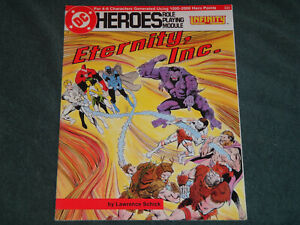 """Mayfair Games """"DC HEROES"""" RPG ETERNITY INC. CHECK OUT MY STORE FOR MORE BOOKS"""