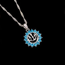 Muslim Silver Plated Islamic Allah Sunflower Pendant Necklace Jewelry 45cm