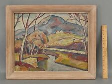 EDGAR NYE American Modernist Mountain Landscape Oil Painting, DC Artist