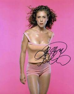 Alyssa Milano Hand-Signed TTM Signed Photo COA
