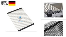 Kitchen Sink Universal Folding Roller DRAINER Tray Roll Mat Hangings Rails