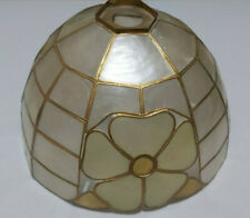 tiffany style lampshade - dome with floral pattern - pritty retro shade