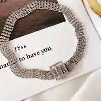 Sparkly Rhinestone Buckle Choker Crystal Belt Choker Necklace/Crystal Bracelets