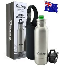 Beer Bottle Cooler Insulator Holder Stainless Steel w Insulated Bag and Opener