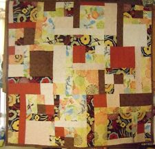 REALLY NICE CHIC ABSTRACT LAP QUILT, WALL HANGING.   #83
