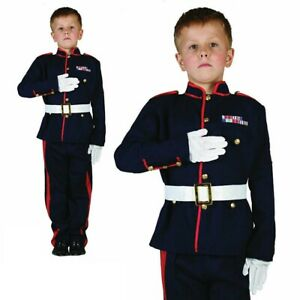 Ceremonial Soldier Costume Army Officer Military Book Week Day Fancy Dress Child