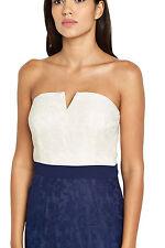 Bnwt poco CONCUBINA @ Lipsy Bianco Laced Contrasto Bodycon Cami taglia 12 Rrp £ 73