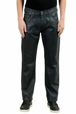 Versace Jeans Men's Gray Coated Straight Leg Jeans US 31 IT 47