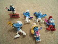 6 x Smurfs McDonalds Plastic Action Figure Toys