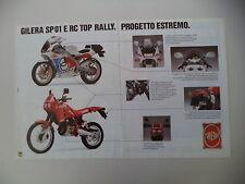 advertising Pubblicità 1989 MOTO GILERA RC 125 TOP RALLY/SP01 SP 01