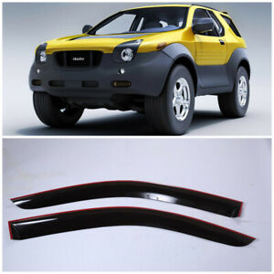 IE40297 Window Visors Guard Vent Wide Deflectors For Isuzu VehiCross 1997-2001