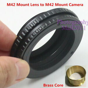 Brass M42 to M42 10-15.5mm Adjustable Macro Tube Focusing Helicoid Mount Adapter