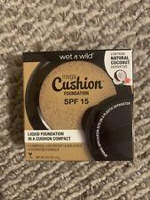 Wet n Wild® Mega Cushion Foundation #119A Buff Beige, Medium•Warm, .052 oz/15g.
