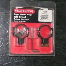 REDFIELD 47251 steel rotary dovetail scope rings,anelli canocchiale,original USA