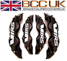 BIG BLACK Brake Caliper Covers DIY Kit White VRS Logo Front Rear L+M fits SKODA