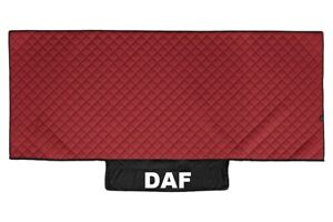 Truck Bed Cover PU Leather Bedspread for DAF XF 106 2013+ Red Lorry Coverlet