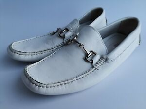 Mens White Casual Deck Shoes Leather Size UK 7 EU 41