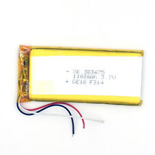 3.7V 1100mAh 383475 3wire Li-Polymer Rechargeable Cell Li-ion  Battery for GPS