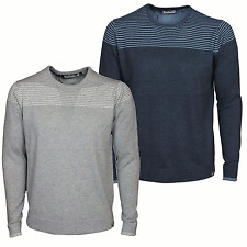 Mens Jumper Crew Neck Duck And Cover Ramirez In Grey & Navy Colour M To 2XL