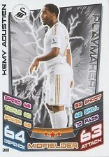 N°281 KEMY AGUSTIEN SWANSEA CITY.FC TRADING CARD MATCH ATTAX TOPPS 2013