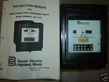 Basler Time Overcurrent Relay Be1-51A Solid State 1 Ph