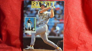 MLB Beckett Magazine Oakland A's Mark McGwire Aug 1992