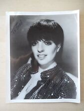 """Liza Minnelli Autographed 8"""" X 10"""" Photograph from Estate"""