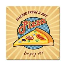 Hot Pizza Pie Italian Food Pizzeria Metal Sign Cafe Shop Diner Restaurant PTS53