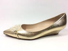 L.K Bennett para mujeres Cuero Lagarto Metálico Taylor Tribunal Zapatos Talla 4.5 de Reino Unido.