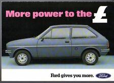 Ford Fiesta 1300 L Mk1 Limited Edition 1981 UK Market Sales Brochure