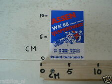STICKER,DECAL ASSEN IJSSPEEDWAY HALVE FINALE WK 1988 HOLLAND