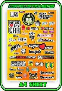 SLOT CAR STICKER SHEET SCALEXTRIC PLAFIT 1/18 1/24 SLOTCAR RACING DECAL VINYL