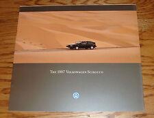 Original 1987 Volkswagen VW Scirocco Deluxe Sales Brochure 87