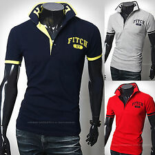 Nouvelle Mode Hommes Dandy Stylish ollier Pique Polo Casual T-Shirts Top F368