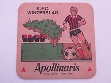 Beer Coaster ~*~ APOLLINARIS Water ~ GERMANY ~*~ 1978 K.F.C. Winterslag Football