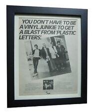 BLONDIE+Plastic Letters+TOUR+POSTER+AD+RARE ORIGINAL 1978+FRAMED+FAST WORLD SHIP