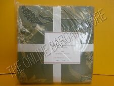 Pottery Barn Madeleine Paisley Floral Sateen Dorm Duvet Cover Twin Blue Green