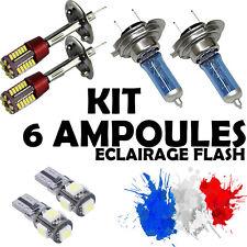 KIT 6 AMPOULE XENON • 2x H7 + 2x H1 + 2x LED T10 • PEUGEOT 307 HDI I CC SW 3P 5P
